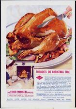 ESSE COOKER COOKS XMAS TURKEY - Vintage 1930s Original ADVERTISEMENT. Free Post