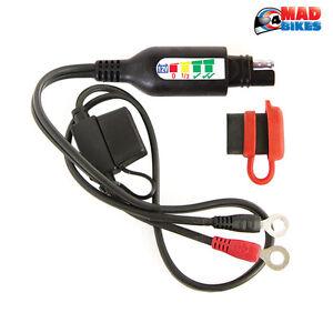 Optimate O-124 Permanent Connexion Câble & Batterie Statut / Charge System
