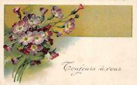 """CPA Fantaisie - Bouquet de fleurs """"Toujours à Vous"""""""