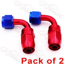 2x AN10 10AN 90 Degree FastFlow Swivel Fuel Oil Gas Line Hose End Fitting
