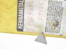 NEW SURPLUS 5PCS. KENNAMETAL  TPGF  322  GRADE: KT125  CERMET INSERTS