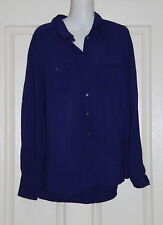Womens size 10 blue button down shirt made by SUSSAN