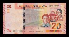 B-D-M Bolivia 20 Bolivianos 2018 Pick 249 New Design SC UNC