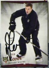 Atlanta Thrashers Don Lever Signed Chicago Wolves Card Auto