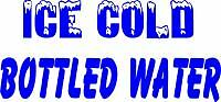 BOTTLED WATER/COLD DRINKS BANNER concessions LOW SHIP