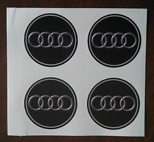 4x 45 mm fits audi wheel STICKERS center badge centre trim cap hub  alloy au