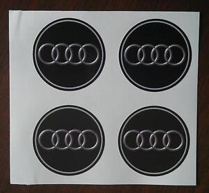 4x 75 mm fits audi wheel STICKERS center badge centre trim cap hub  alloy au