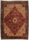 One of a Find Thick Pile Geometric Floral 8X11 Vintage Oriental Area Rug Carpet