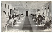 National Home for Disabled Volunteer Soldiers Ward, Hot Springs, SD Postcard