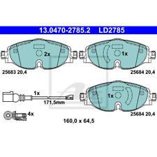 Bremsbelagsatz Scheibenbremse ATE Ceramic - ATE 13.0470-2785.2