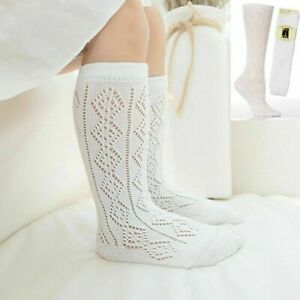 3, 6 Pairs Girls Pelerine Socks Cotton Rich 3/4 Long School Knee High White