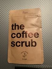 The Coffee Scrub Exfoliant - 100% Organic - Rose Scent - All Natural - 50g - New