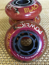 Black Hole Inline Wheels (Set of 4) Outdoor Hockey 72mm -81A New! Free Shipping