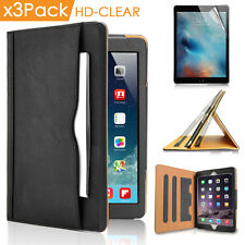 """Wallet Shock Proof Stand Case For iPad Pro 12.9"""" Clear Film/ MFI Lightning Cable"""