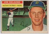 1956 Topps #338 Jim Delsing VG-EX Detroit Tigers  FREE SHIPPING