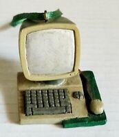 Vintage Computer Christmas Ornament