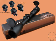 Free Ship New Fortune 3-12x44 Streamlined Appearance Mil Dot Rifle Scope