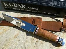 KA1236 Couteau Ka-Bar Bowie Lame Acier Inox Manche & Etui Cuir