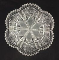 "Antique American Brilliant Period ABP Deeply Cut Glass 9"" x 4"" Bowl"