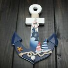 Wooden Nautical Pirate Ship Anchor Marine Wall Hanging Hook Ship Starfish Decor
