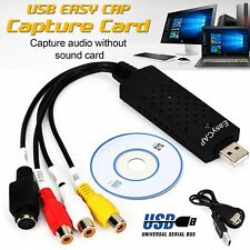 Newest Easycap USB 2.0 Audio Video VHS to PC DVD Converter Capture Card Adapter