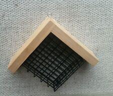 Hanging Suet Basket with Cedar Roof Bird Feeder woodpecker chickadee