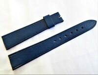 Vintage Swiss Made 18mm New Old Stock Dark Navy Genuine Calf Leather Watch Strap