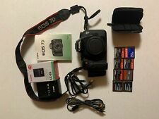 Canon EOS 7D 18.0MP Digital SLR Camera - Black (Body Only) + accessories