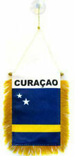 """Wholesale lot 3 Curacao Mini Flag 4""""x6"""" Window Banner w/ suction cup"""