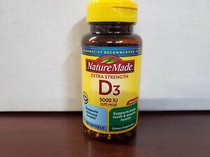 Nature Made Extra Strength Vitamin D3 - 5000 IU - 180 Softgels Exp: 6/2022