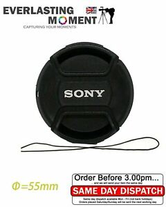 Sony LC-55 Front Pinch Lens Cap for Alpha 55mm filter thread snap-clips
