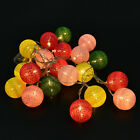 20 COTTON BALL FAIRY LED STRING LIGHTS WEDDING PARTY PATIO CHRISTMAS DECOR AUFT