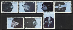 Laos 781-7 MNH - Space, Satellites, Sputnik 1, Cosmos, Luna 3