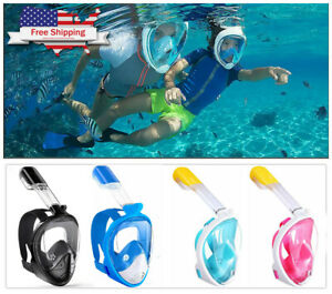 180° View Panoramic Snorkeling Mask Full Face - GoPro Compatible Snorkel kit