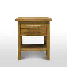 Solid Oak Lamp Table | Solid Oak Bedside Table Living & Bedroom Furniture MB302