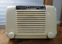 Firestone Air Chief Cream AM Tube Radio Model 4-A-2 Working Not Fully Restored
