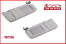 2007-2011 TOYOTA CAMRY SUN VISOR SET LEFT & RIGHT GRAY WITHOUT LIGHT & SUNROOF