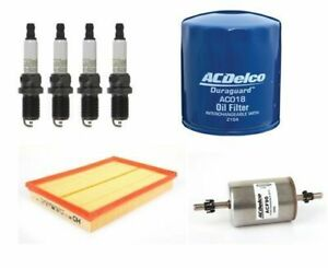 Air Oil Fuel Spark Plugs ACDelco Filter Kit suitable for HOLDEN Barina XC 2001-2