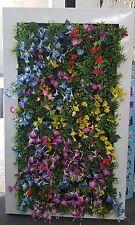 Artificial Flower Wall Garden Steel Green Yellow Purple  RRP $1995  **70%OFF**