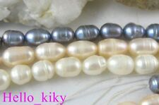5 strands Mixed colour rice pearl beads M1833