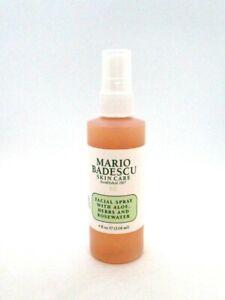 Mario Badescu Skin Care Facial Spray With Aloe Herbs And Rosewater ~ 4 oz ~