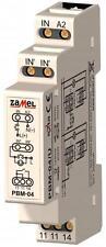 Relé biestable (impulso) PBM-04/U,12-230V AC/DC 0mA, Relé 10A/250V AC1 2500VA