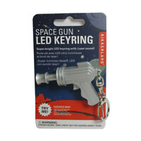 Kikkerland Space Gun LED Keychain Carded Red Light Laser Sound Key Ring Gift Fun