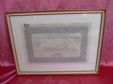 schönes Bild__altes französisches Dokument 1927__gerahmt, hinter Glas __!