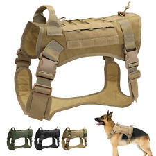 Tactical Dog Harness No Pull Large Dog Training MOLLE Vest Breathable & Handle