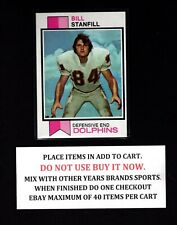 1973 TOPPS FOOTBALL #201 TO #400 SELECT CARDS FROM OUR LIST