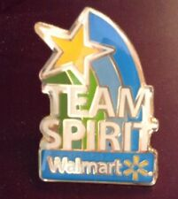 Wal-Mart Metal Enamel Employee Pin Free Ship Team Spirit