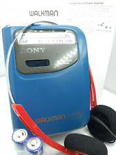 Sony Walkman WM-FX101 AM FM Radio Personal Portable Cassette Tape Player - BLUE