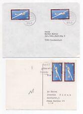 c1990 GERMANY 2 Covers BERLIN NEUSTAD a.d.AISCH FREUDENSTADT Glider Stamp SG1918