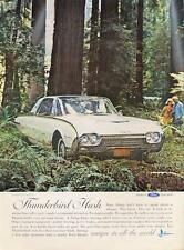 1962 Ford PRINT AD features: White Thunderbird 2-Dr hardtop California Red Woods